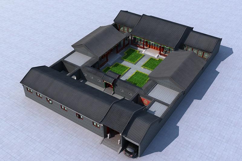 老北京四合院3d模型