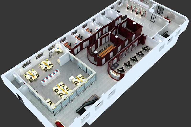 营业厅三层平面效果图