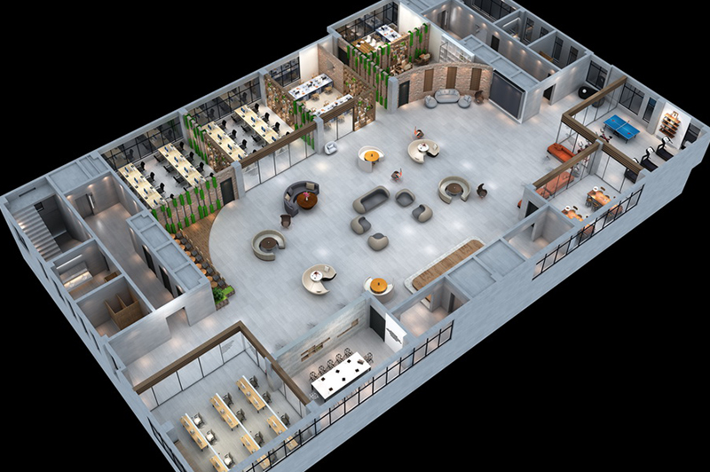 展厅鸟瞰图设计
