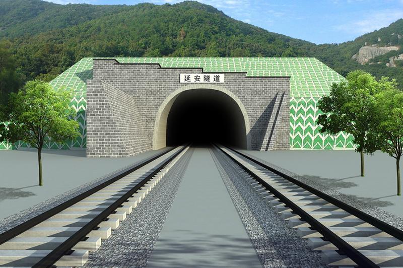 火车隧道效果图