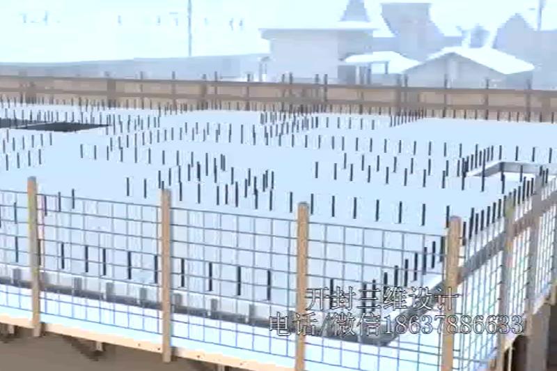 建筑钢结构施工3D动画建筑生长