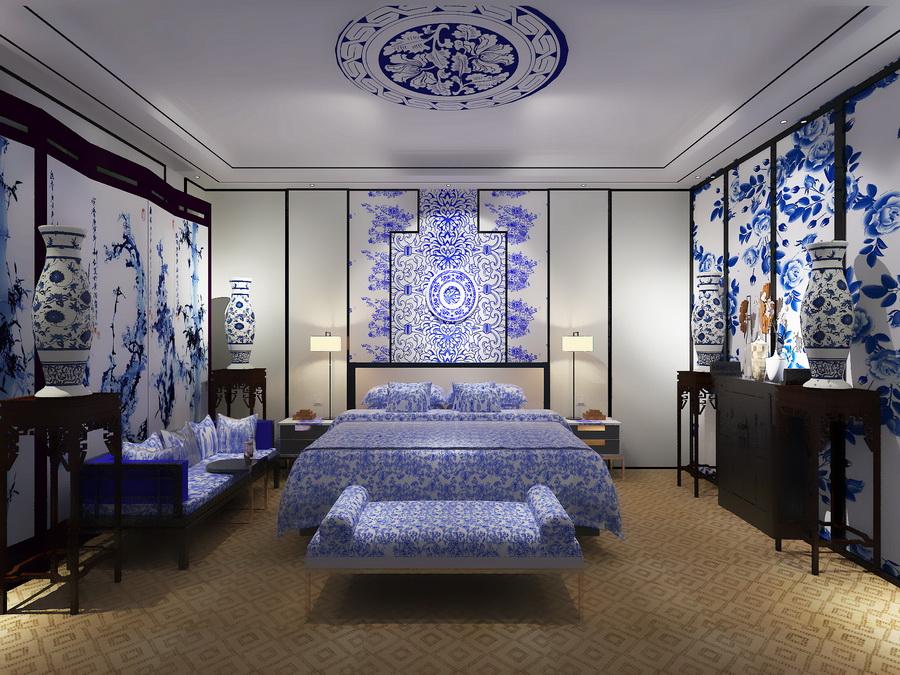 青花瓷展示房效果图