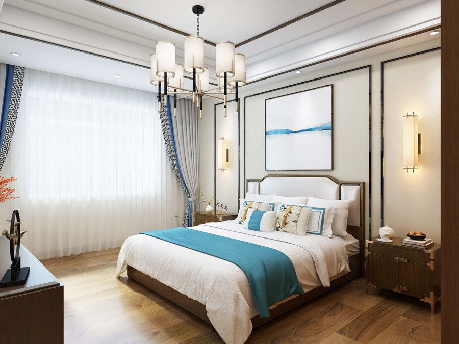 卧室效果图制作