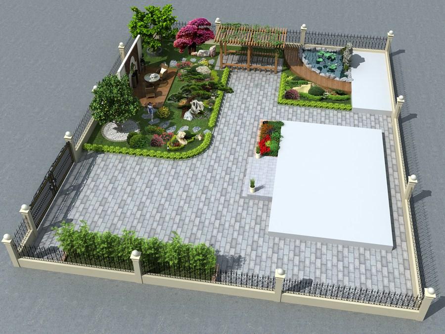 庭院鸟瞰图设计