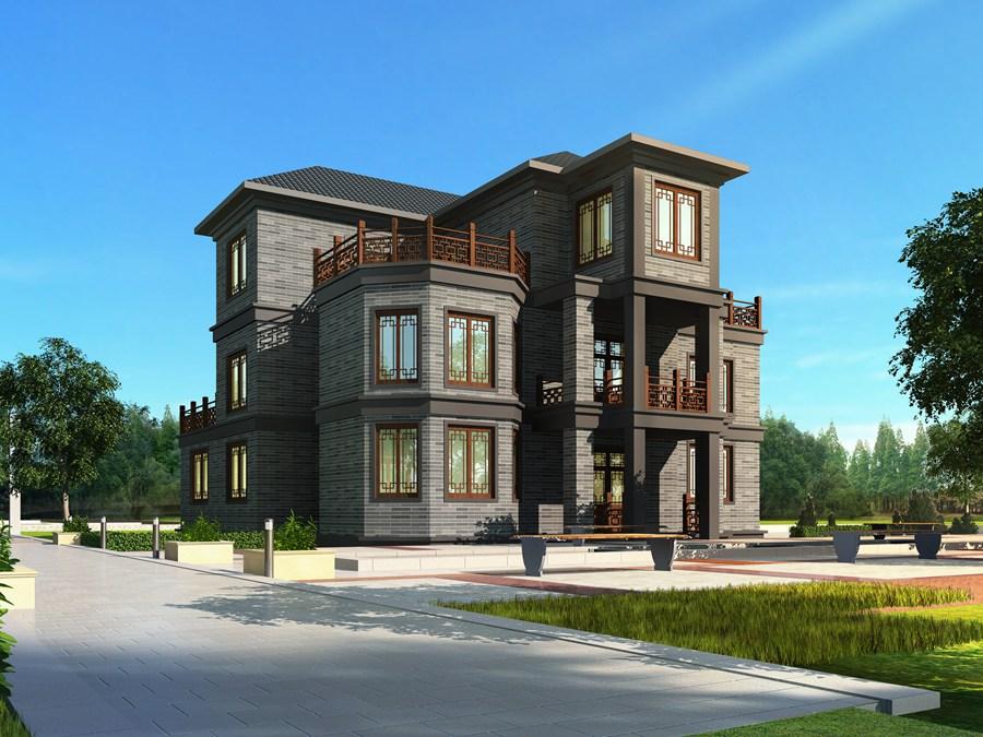 中式别墅效果图制作