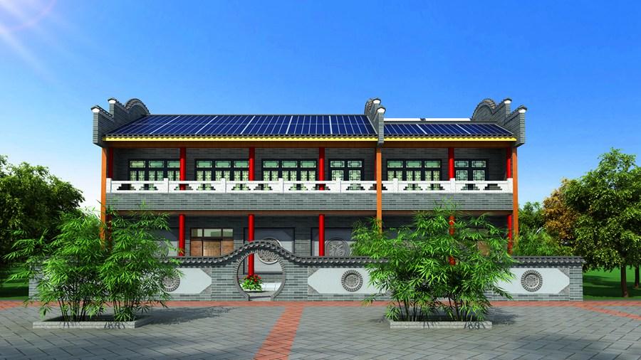 中式阳光板住宅