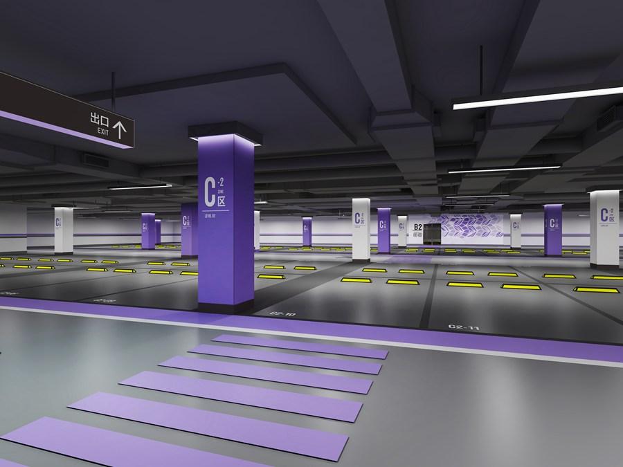 地下车库3D效果图