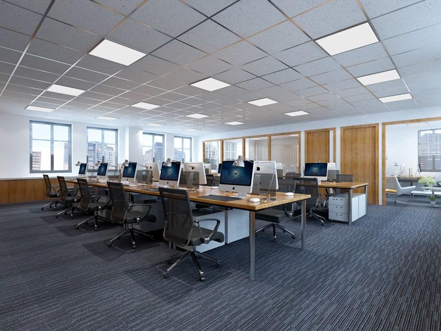 企业办公室3D效果图