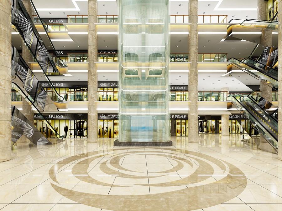 商场大厅3D效果图