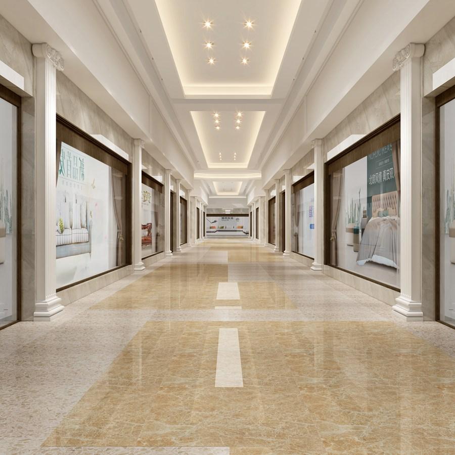 商场走廊3D效果图