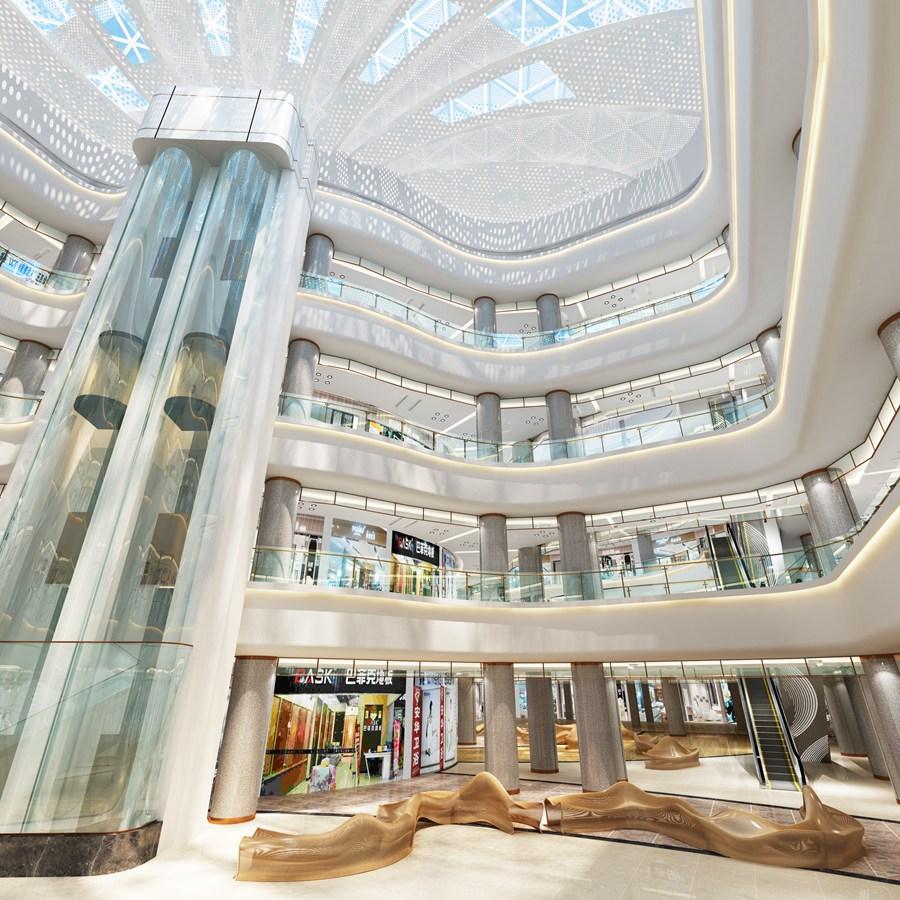 商场大厅效果图制作