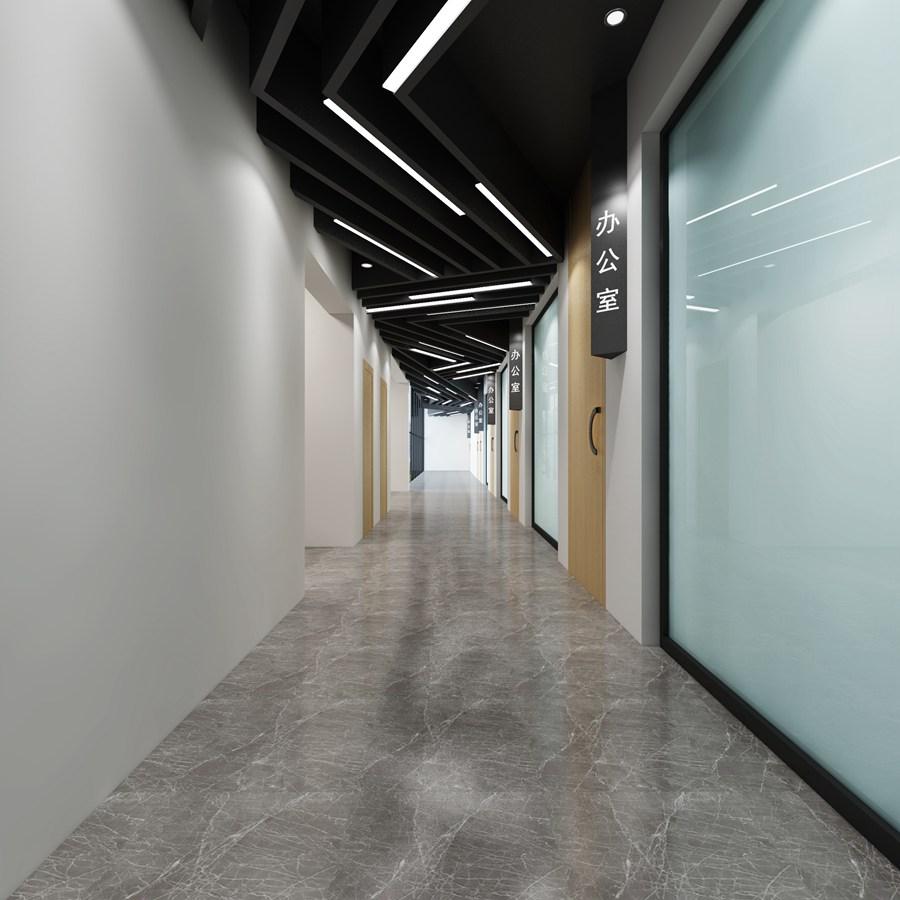企业走廊效果图制作