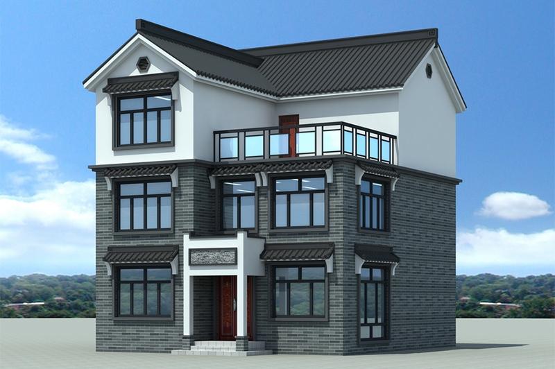 二层半别墅效果图