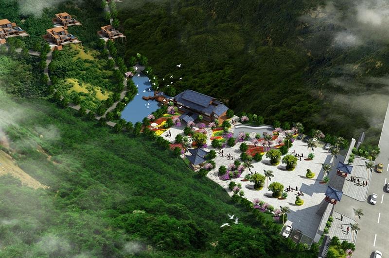 度假酒店鸟瞰图设计