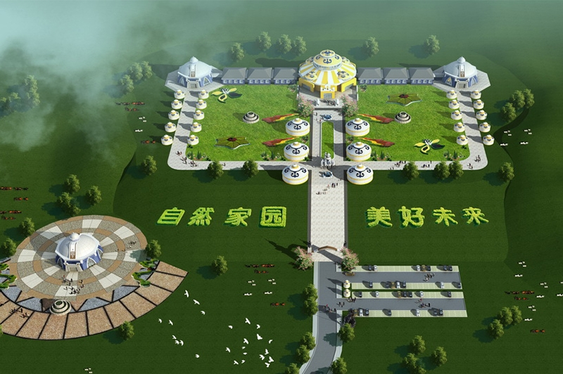 蒙古包效果图设计