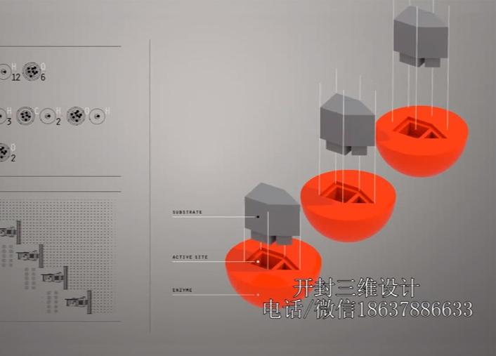 3d动画化工炼油厂视频