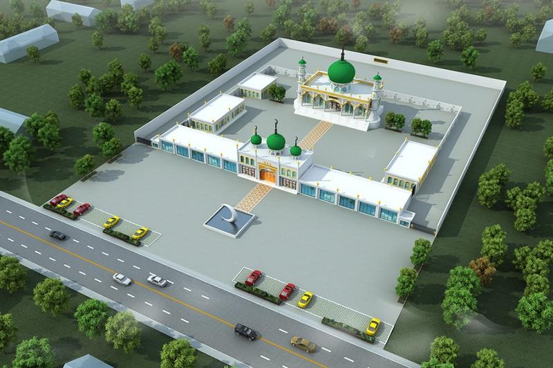 清真寺鸟瞰效果图