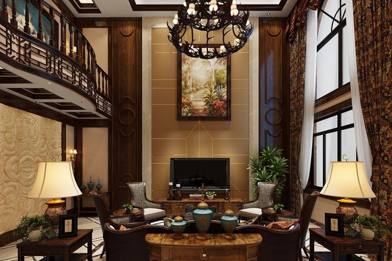 复式客厅效果图