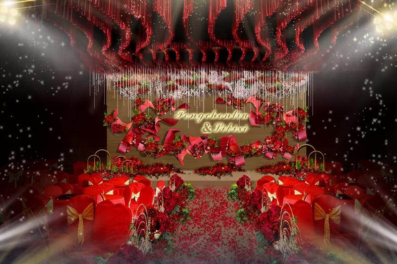 婚礼舞台效果图设计