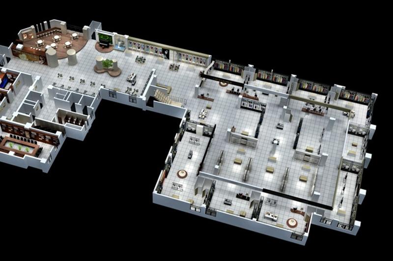 商场鸟瞰图