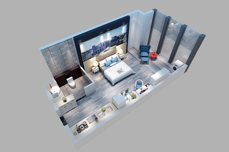 一室一厅户型图