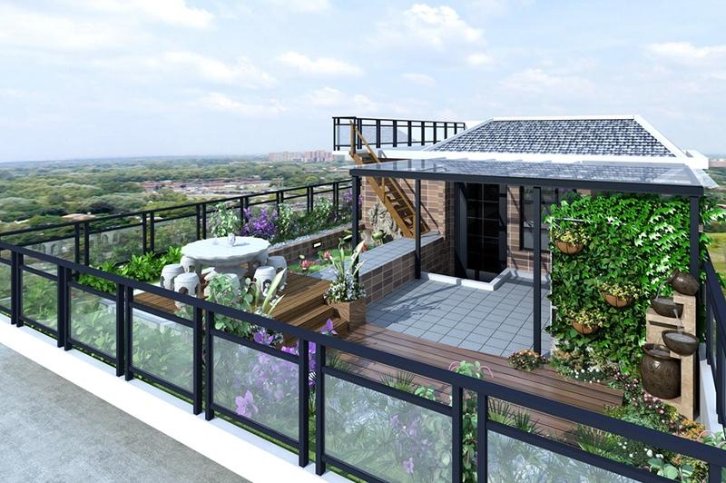 屋顶花园效果图