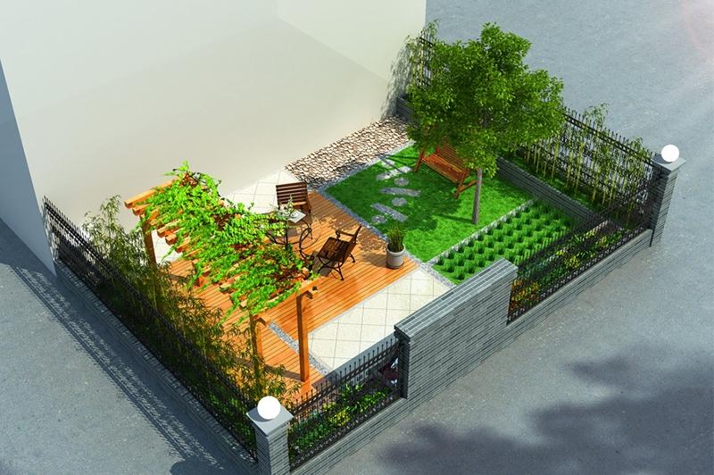 小花园3D效果图