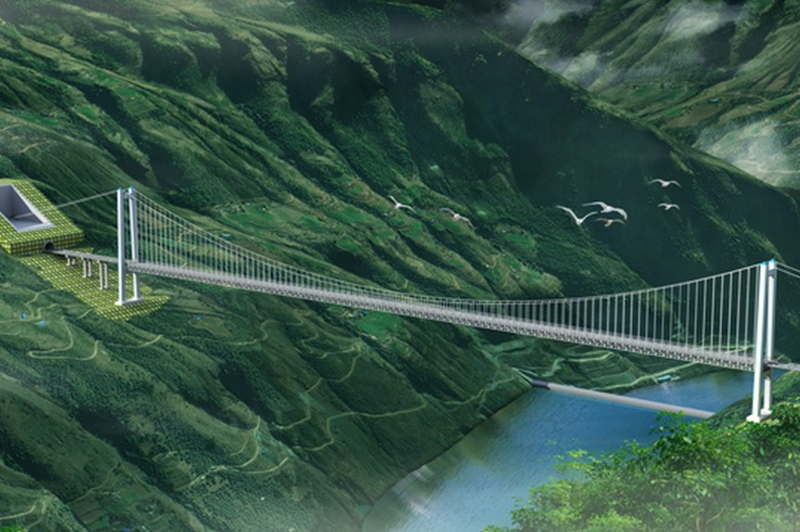 桥梁效果图