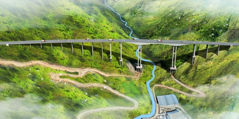 大桥效果图
