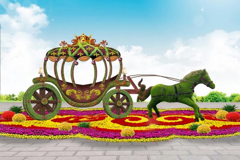 马车绿雕效果图