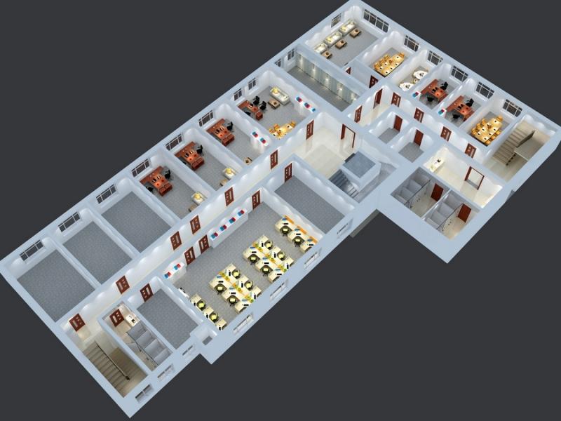 企业办公区鸟瞰图