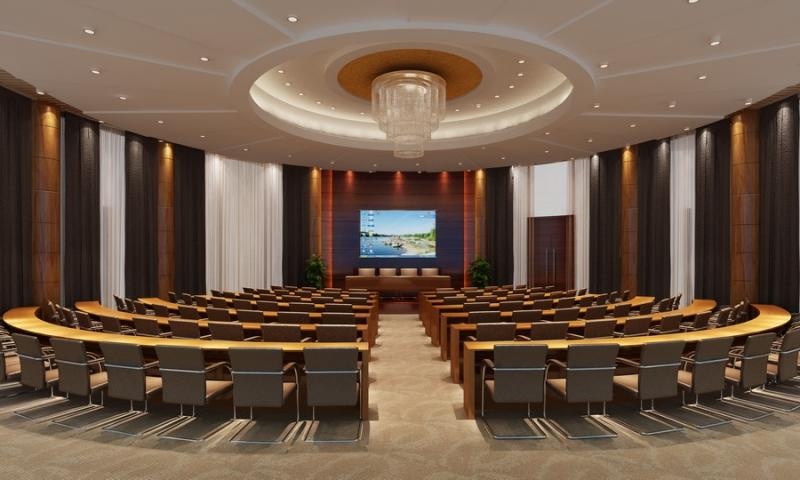 圆形会议室效果图