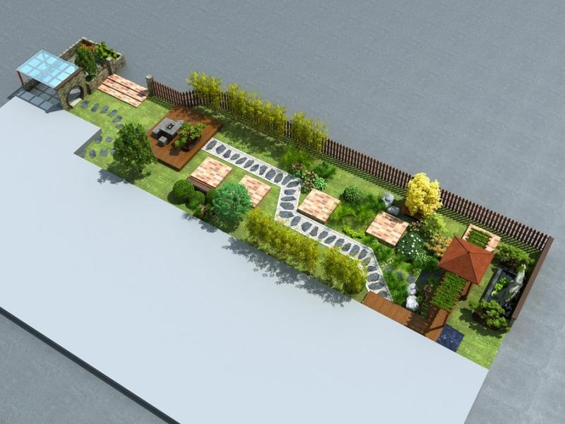 院子景观效果图设计