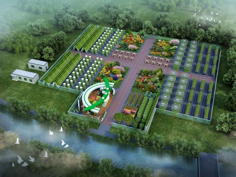 植物园鸟瞰图