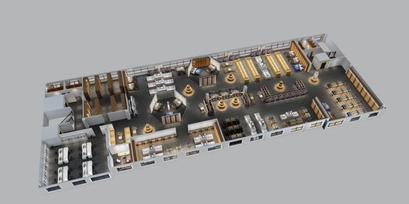 商场一层鸟瞰图
