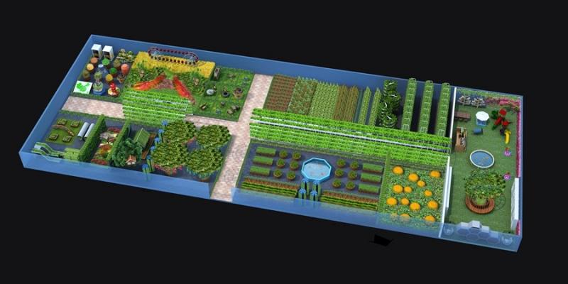 植物园效果图制作