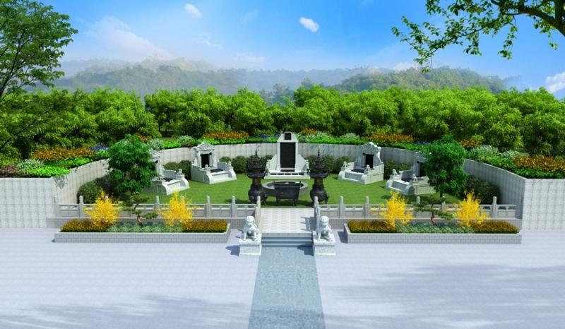 墓地效果图设计