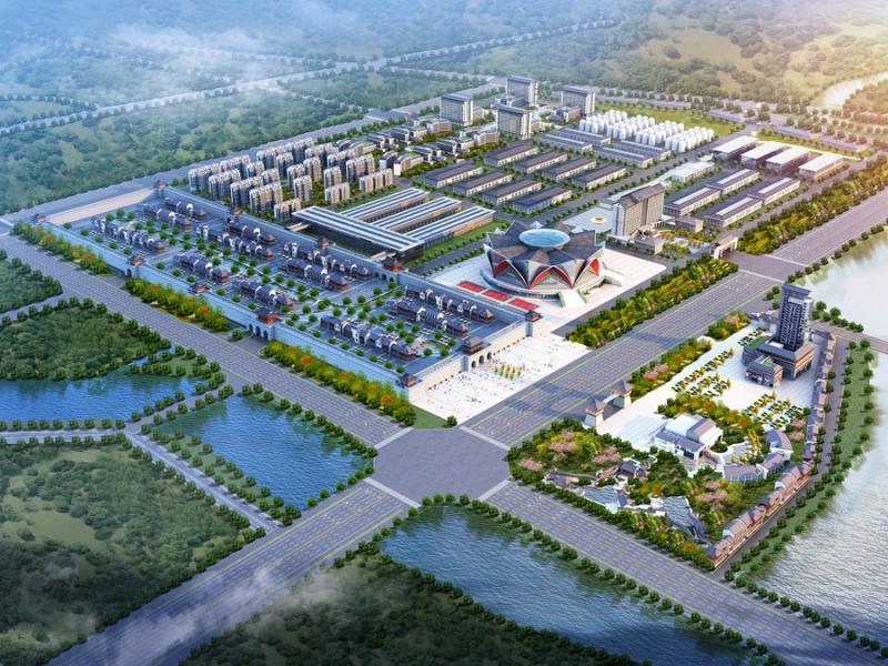 中式企业园鸟瞰图