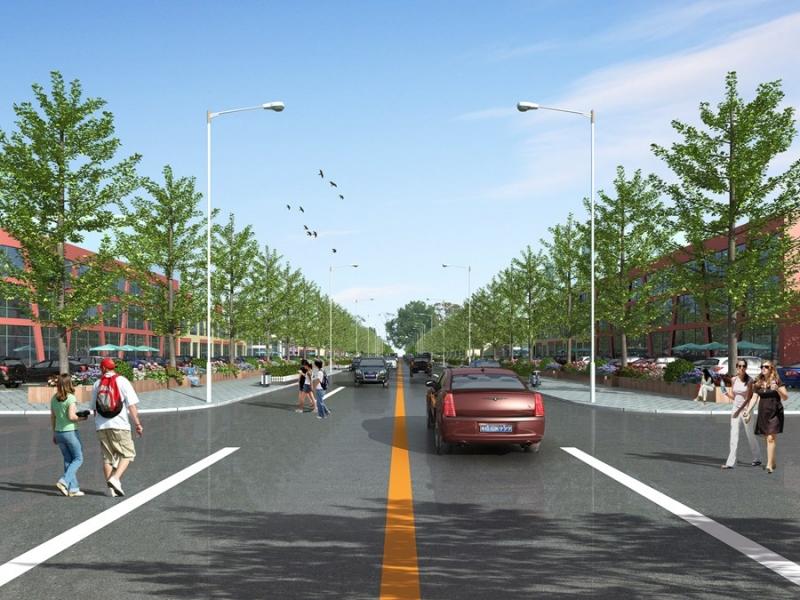 沿街绿化效果图制作