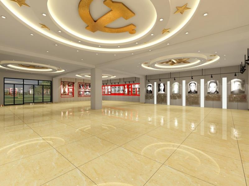 党建展厅3D效果图