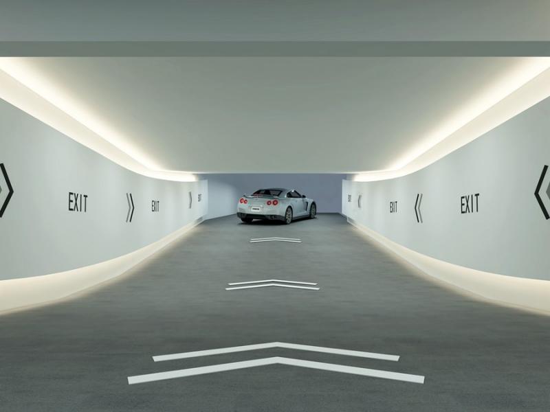 地下车库出口效果图设计